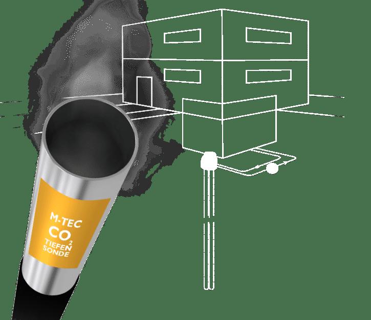 M-TEC CO2-Tiefensonde für Erdwärmepumpe
