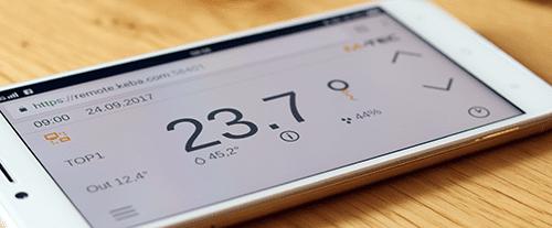 Steuerung M-TEC Wärmepumpe mit dem Smartphone