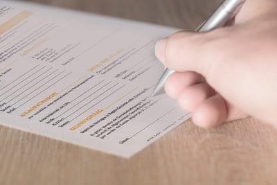 Vertragsformular für Garantie-Erweiterung